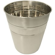 LCM Home Fashions, Inc. Beaded Stainless Steel Wastebasket