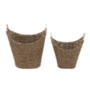 Woodland Imports 2 Piece Sea Grass Basket Set