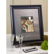 SignatureKeepsakes Personalized Elegant Black Guest Book Frame; Horizontal