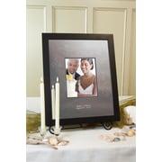 SignatureKeepsakes Personalized Modern Black Guest Book Frame; Horizontal