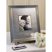 SignatureKeepsakes Personalized Aged Silver Guest Book Frame; Vertical
