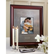 SignatureKeepsakes Personalized Mahogany and Black Guest Book Frame; Vertical