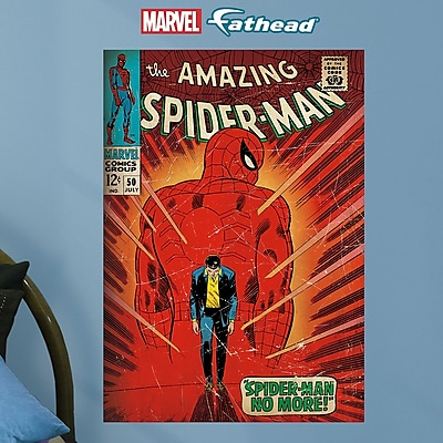 Fathead Marvel The Amazing Spider-Man #50 Cover Peel and Stick Wall Decal WYF078278047949