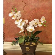 Floral Home Decor Silk Orchid Design in Bowl