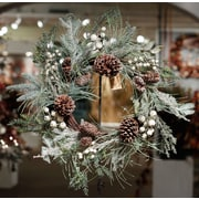 Wildon Home   Snowberry and Icy Pine Wreath