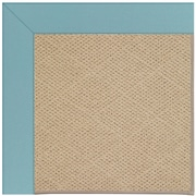 Capel Zoe Machine Tufted Bright Blue/Brown Area Rug; Square 8'