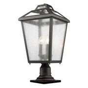 Z-Lite Bayland 3-Light Pier Mount Light; Oil Rubbed Bronze