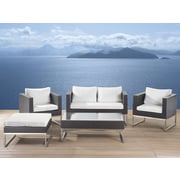 Beliani Crema Garden Furniture 5 Piece Deep Seating Group with Cushion