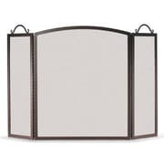 Pilgrim Hearth Traditional Arch 3 Panel Steel Fireplace Screen