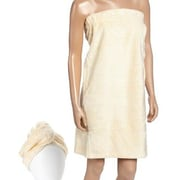 Fabbrica Home Turban Bath Wrap and Hair Set; Cream
