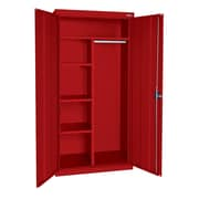 Elite Combination Cabinet, 46Wx24Dx72H, Red