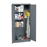 Janitorial Supply Cabinet 36Wx24Dx72H Three storage shelf spaces 20Wx23Dx17H Charcoal