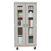 Modular Storage Wall Cabinet 30Wx12Dx26H One Adjustable Shelf Multi Granite/Black
