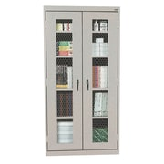 Expanded Metal Front Stationary Cabinet 36Wx18Dx72H Multi Granite