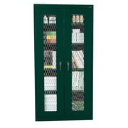 Expanded Metal Front Stationary Cabinet 36Wx18Dx72H Forest Green