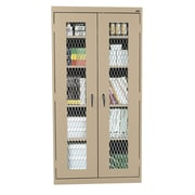 Expanded Metal Front Stationary Cabinet 36Wx18Dx72H Tropic Sand