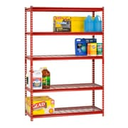 Boltless Rivet Shelving 5 Shelf 48Wx18Dx72H