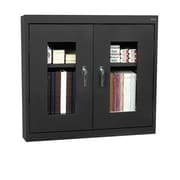 Clear View Wall Cabinet 36Wx12Dx30H Black