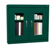 Clear View Wall Cabinet 36Wx12Dx30H Forest Green