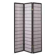 Wildon Home   Shoji Style 70.5'' x 51'' 3 Panel Room Divider; Black