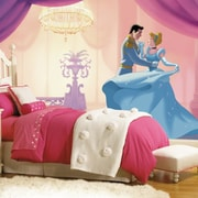 Room Mates Disney Princess Cinderella ''So This Is Love'' Chair Rail Prepasted Wall Mural