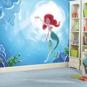 Room Mates Disney Princess The Little Mermaid ''Part of your World'' Chair Rail Prepasted Wall Mural