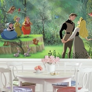 Room Mates Disney Princess Sleeping Beauty Chair Rail Prepasted Wall Mural