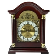 Bedford Mantel Clock with Chimes, Mahogany Cherry Solid Oak (bed-1924)