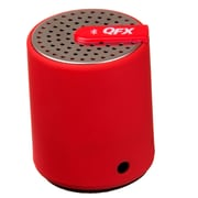 QFX® CS-27BT Portable Bluetooth Speaker With Aux-In, Red