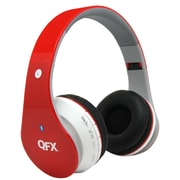 QFX® Bluetooth Stereo Headphones, Red