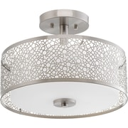 Progress Lighting Mingle 1 Light Semi Flush Mount; Brushed Nickel