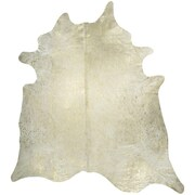 Saddlemans Devore Hand woven Metallic White Area Rug