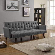Madison Home USA Mid Century Convertible Sofa; Dark Grey