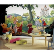 Room Mates Disney Princess Snow White ''Happily Ever After'' Chair Rail Prepasted Wall Mural