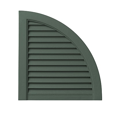 PlyGem Open Louvered Arch Top (Set of 2); Green WYF078278530811