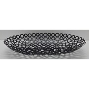 Red Vanilla Vanilla Rings Oval Basket; Black