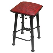 New World Trading 30'' Bar Stool; Colonial Red