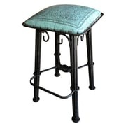 New World Trading Western 30'' Bar Stool with Cushion; Colonial Turquoise