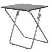 Wee's Beyond Over Sized TV Tray Folding Table; Metallic