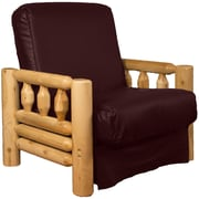 Epic Furnishings LLC Grand Teton Futon Chair; Leather Look Bordeaux