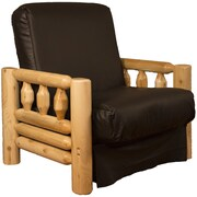 Epic Furnishings LLC Grand Teton Futon Chair; Leather Look Brown