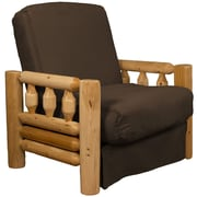 Epic Furnishings LLC Grand Teton Futon Chair; Suede Chocolate Brown