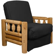 Epic Furnishings LLC Grand Teton Futon Chair; Suede Ebony Black