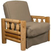 Epic Furnishings LLC Grand Teton Futon Chair; Suede Mocha Brown