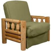Epic Furnishings LLC Grand Teton Futon Chair; Suede Olive Green