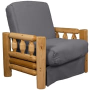 Epic Furnishings LLC Grand Teton Futon Chair; Suede Slate Grey