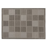 Ottomanson Jardin Contemporary Boxes Design Gray Outdoor Area Rug; 5'3'' x 7'3''