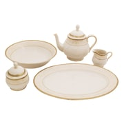 Shinepukur Ceramics USA, Inc. Galaxy Ivory China Traditional Serving 5 Piece Dinnerware Set