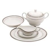 Shinepukur Ceramics USA, Inc. Diamond Fine China Special Serving 5 Piece Dinnerware Set