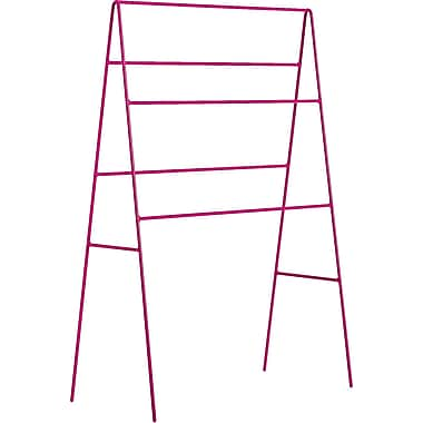 WS Bath Collections Complements Ranpin Free Standing Towel Stand; Fuchsia